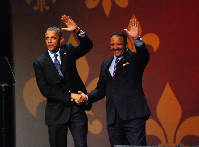 Former New Orleans mayor and current National Urban League president Marc Morial welcomed President Obama to the 2012 Urban League conference in New Orleans.