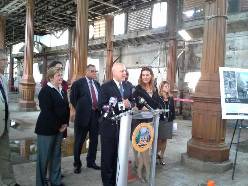 Mayor Mitch Landrieu officially kicked off renovations planned for the St. Roch Market.