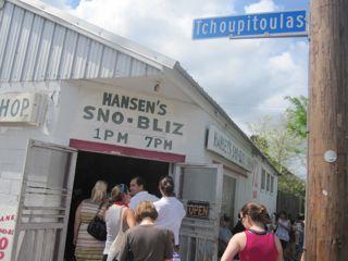 Hansen's Sno-Bliz in Uptown New Orleans.