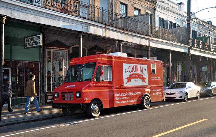 La Cocinita, one of the active food trucks on the streets of New Orleans.