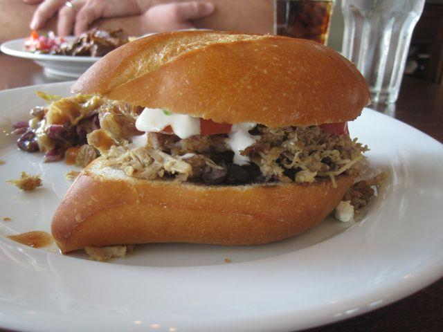 The torta -- a Mexican-style sandwich -- at Canal Street Bistro.