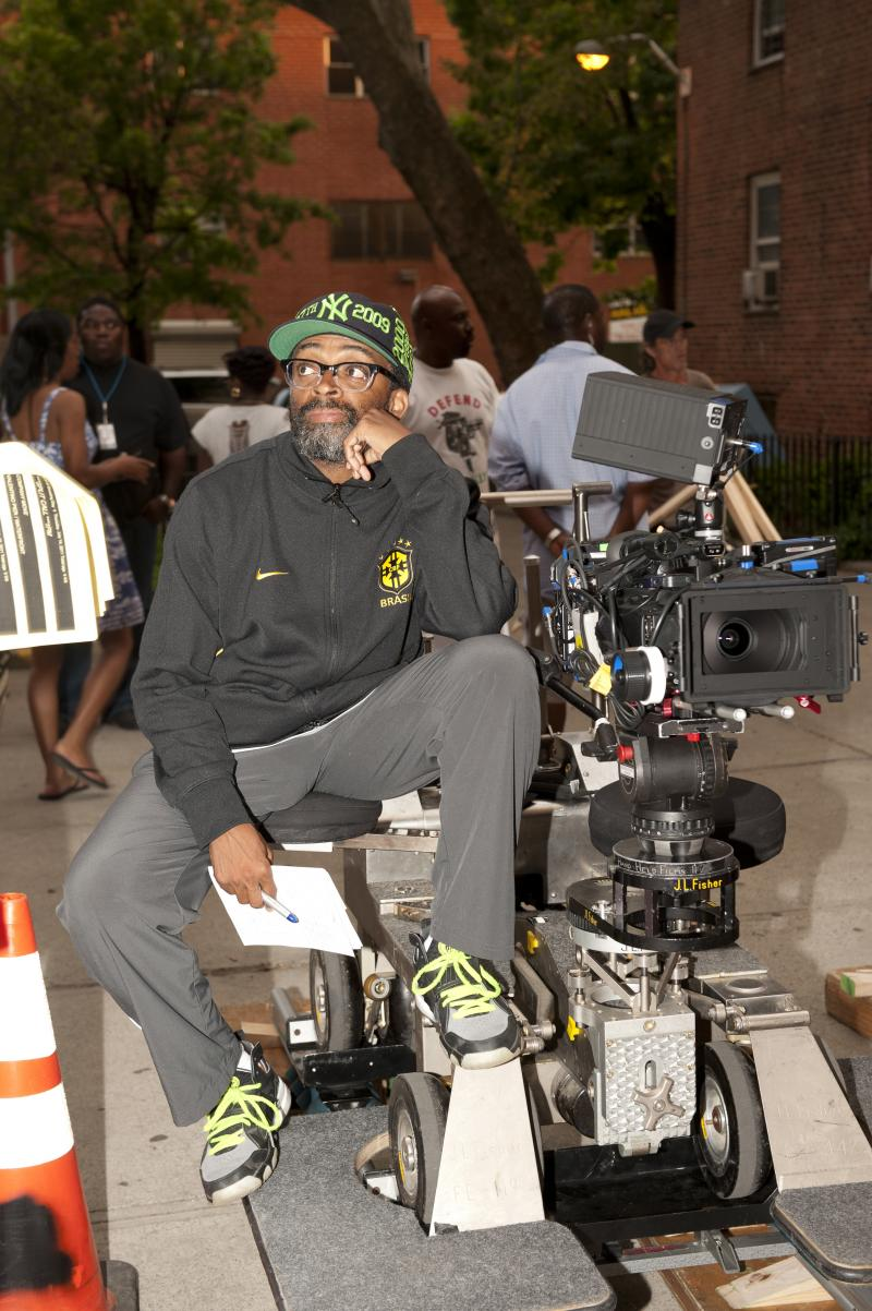 Director Spike Lee on the set of his latest feature film.