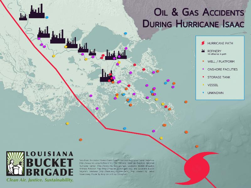 Damage to oil refineries and other facilies is tracked