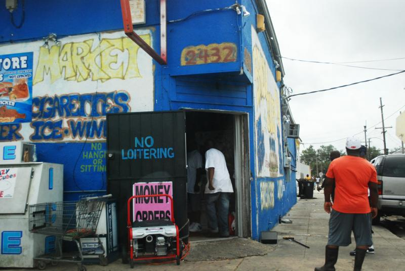 Many homes and businesses around the region, like this store on Martin Luther King, Jr. Blvd., relied on power from generators after Hurricane Issac put much of South Louisiana in the dark.