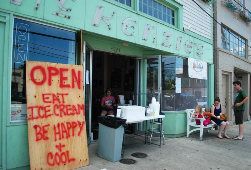 The Creole Creamery was one business trying to keep New Orleanians cool in soaring temperatures. Many residents were still without power days after Hurricane Isaac passed through the city.