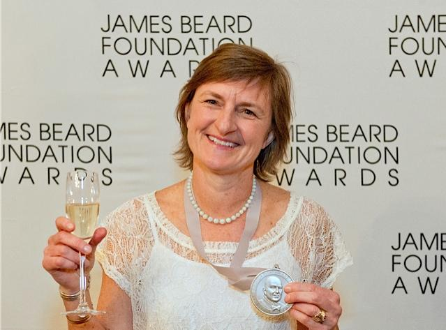 Author Molly Stevens after winning a James Beard Award.