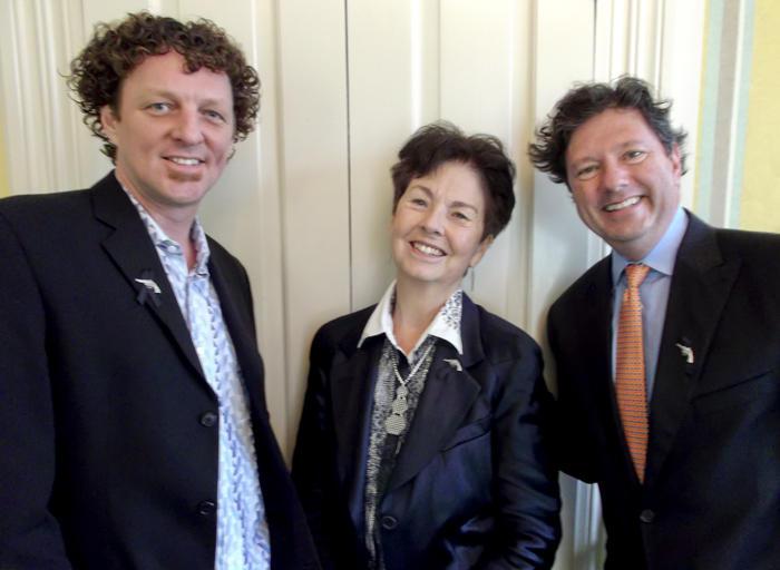 Brent McCrossen, Mignon Faget and Peter Ricchiuti.