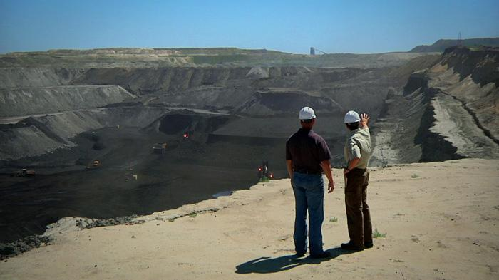 A mine in the Powder River Basin, the largest coal reserve in the world, visited in the film by Dr. Scott Tinker.