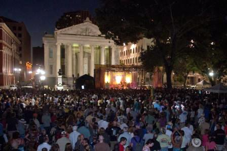 This year's Blues & BBQ Festival in Lafayette Square.
