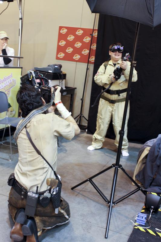 For a small charitable donation, anyone could dress up as a Ghostbuster... Complete with a photo for posterity.