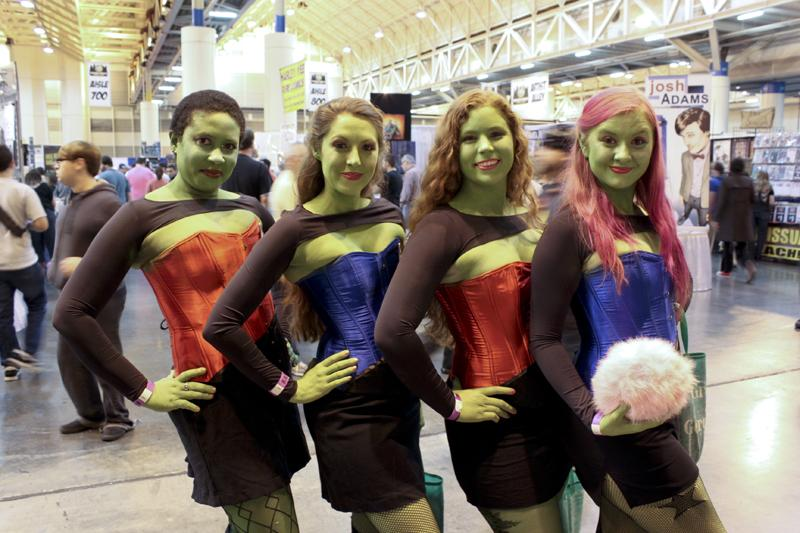 N'uvarah, Dina, Mahayla and D'nesha. Performing Orion Slave Girls, from Star Trek.