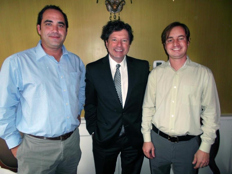 Chris Cuadrado, Peter Ricchiuti and David Bergeron.