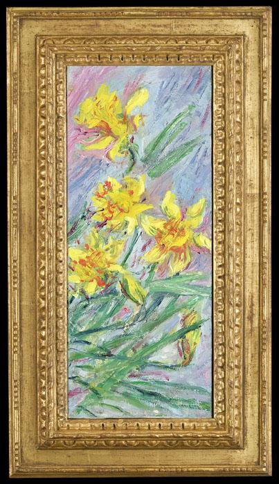 """Jonquilles"" (Daffodils), by Claude Monet, 1885."