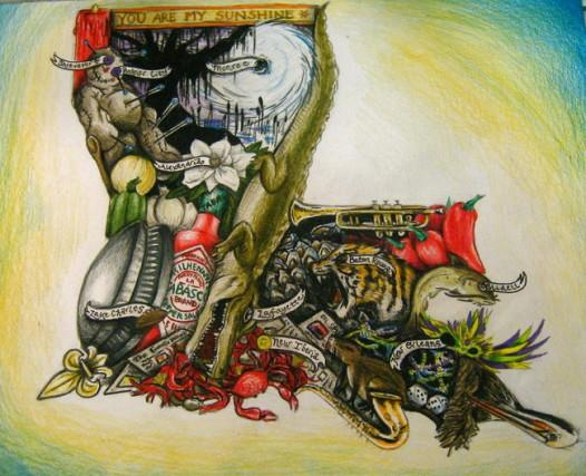 The George Rodrigue Foundation of the Arts 2011 art contest winner.