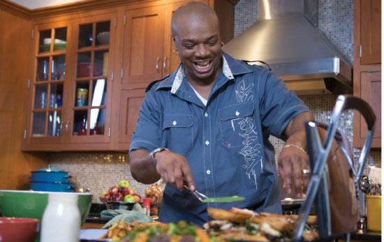 Chef Aaron McCargo used inspiration from his own life to help spread awareness about the dietary needs of people on dialysis.