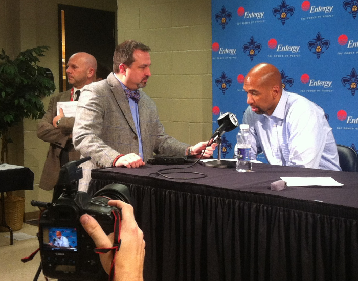 Hornets Head Coach Monty Williams during his postgame press conference.