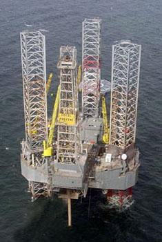 The Rowan Cecil Provine rig is en route to the site of the uncontrolled well about 50 miles east of Grand Isle.