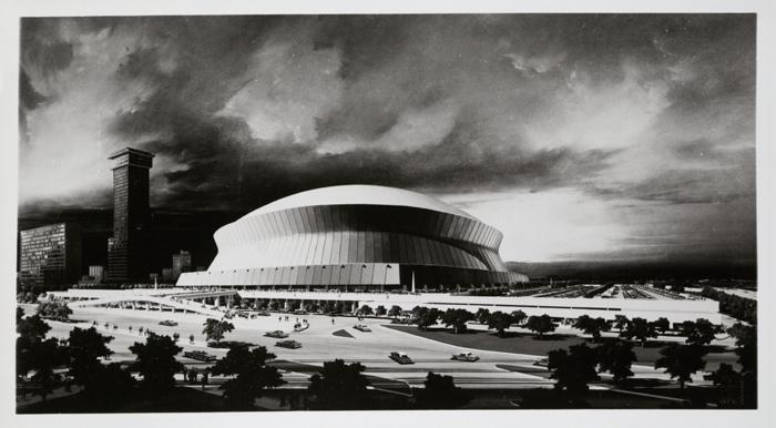 Superdome promotional drawing.