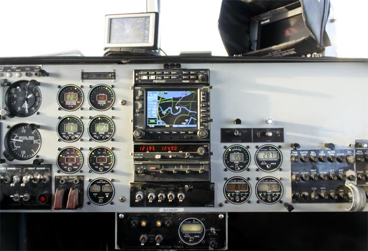 The blimp's instrument panel.