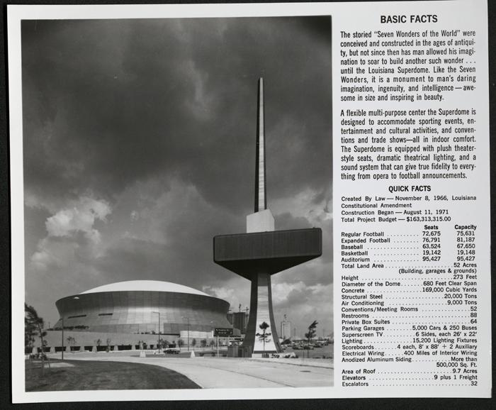 Basic facts on the Superdome.