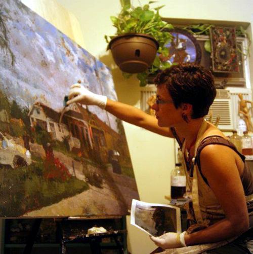 Artist and membership drive volunteer Stephanie Reed.