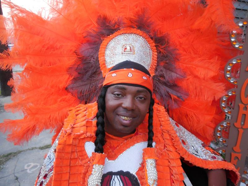 Bennie Ratcliff, Trail Chief, Ninth Ward Navajo Mardi Gras Indians.