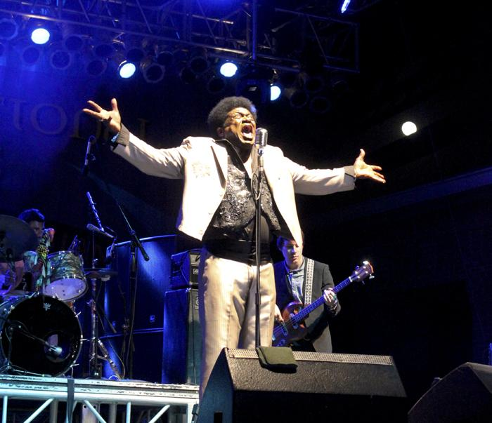 R&B maestro Charles Bradley on Friday night.
