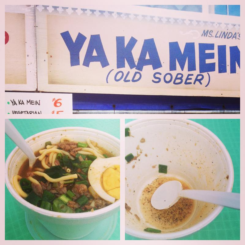 "Ya Ka Mein is an African-American traditional food, also known as ""Old Sober"""