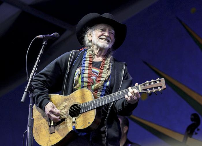 Willie Nelson, on the Gentilly Stage.