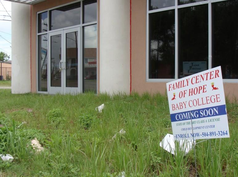 A community center to be run by Family Center of Hope is well behind schedule.