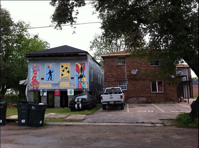 A scene from the Hoffman Triangle neighborhood.
