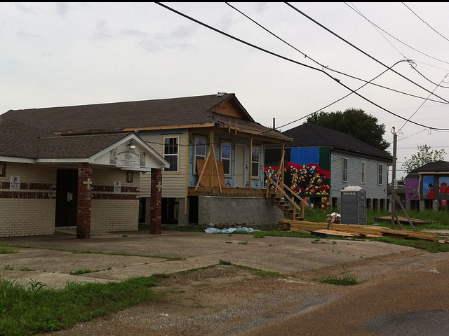 More of the relocated homes of the Hoffman Triangle.