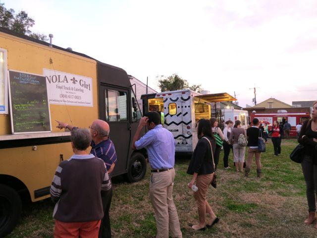 Vendors and customers gather for a recent food truck event in Central City.