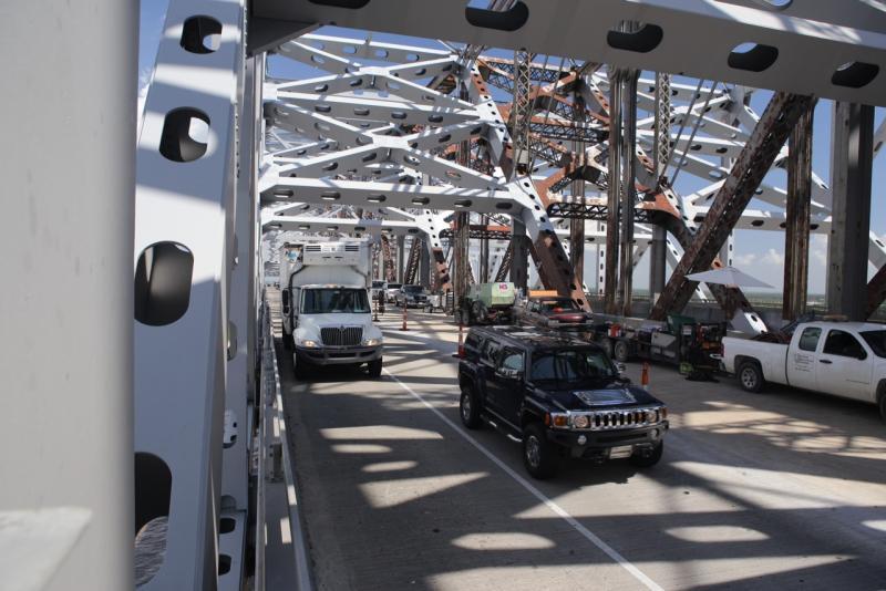 The bridge can now accomodate modern, bigger vehicles.