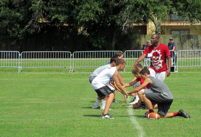 The Manning Passing Academy offers hands-on instruction, with one coach for every 10 campers.