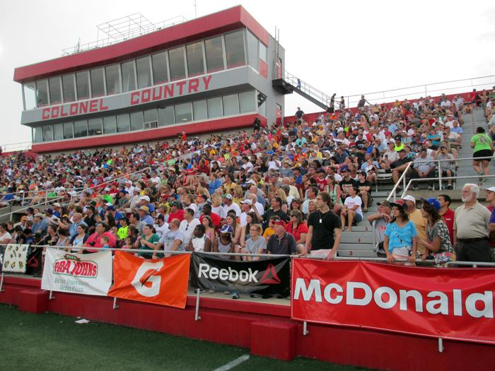 Fans packed John L. Guidry Stadium to watch top college and professional quarterbacks in the Air It Out Session.