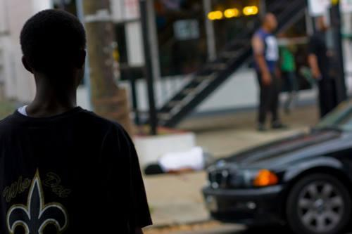 A scene from 'Shell Shocked' on gun violence and youth in New Orleans.