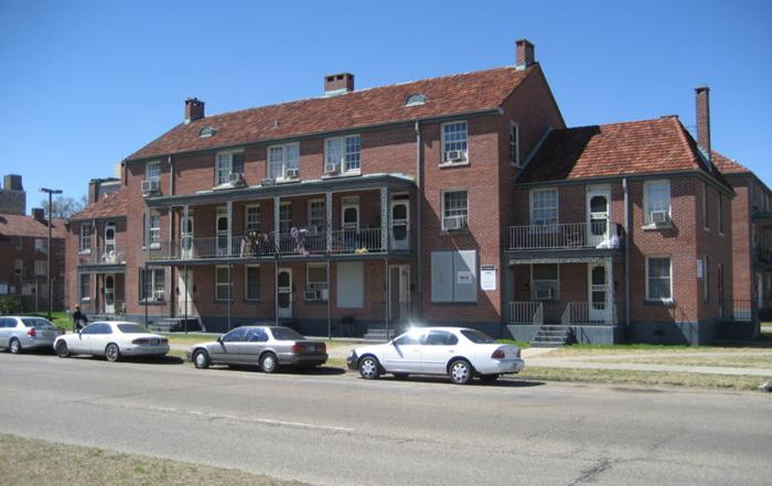 A portion of the Iberville housing development fronting Basin Street, in 2007.