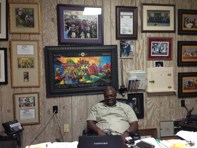 President Naaman Stewart in his office on the second floor of the Zulu Headquarters at 732 N. Broad St.