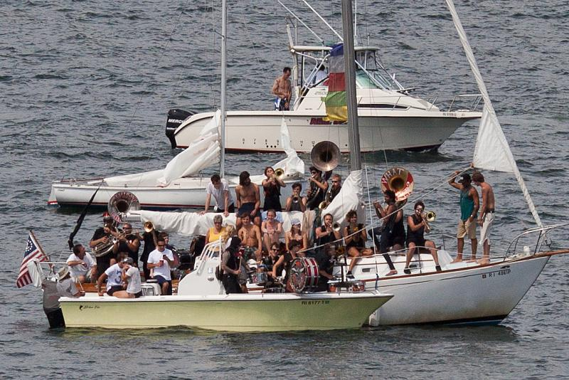 The What Cheer? Brigade ON A BOAT!