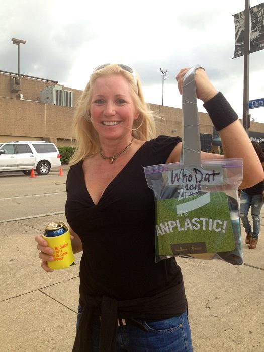 "Brooke Baker representing NOLA DIY. ""It's Fanplastic!"""