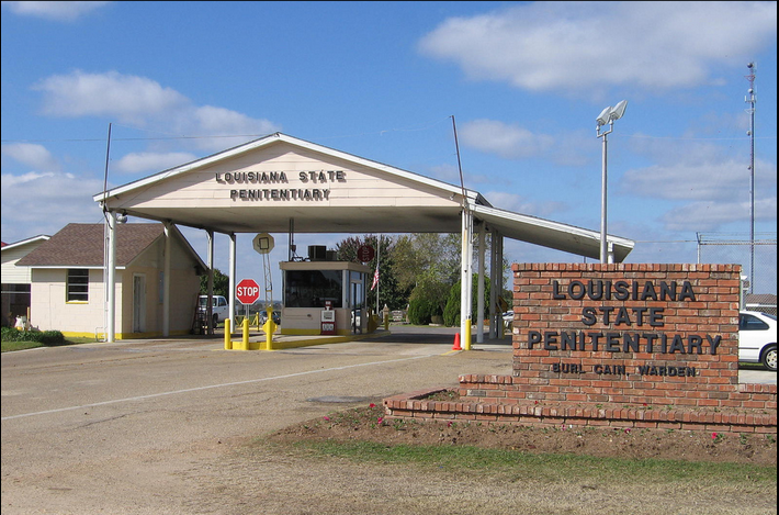 The front gates to the Louisiana State Penitentiary at Angola.