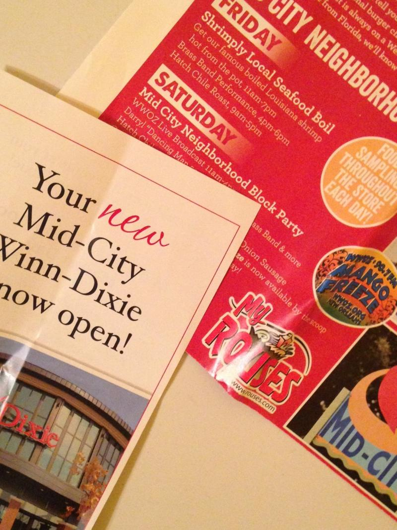 Rouses and Winn-Dixie have used mail promotions to hype their selection and special entertainment options.