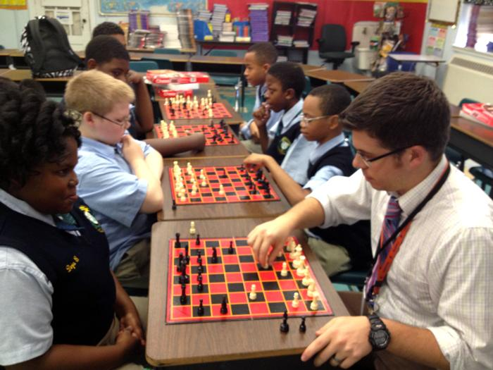 Martin Behrman Charter School's chess club.