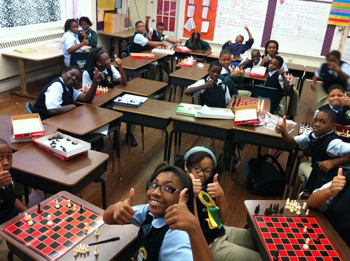 Martin Behrman Charter School teacher Philip Razem's classroom.