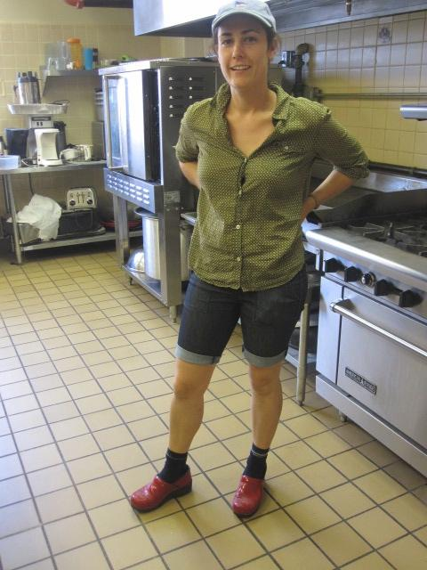 Chef Sarah Bouley in the Abeona House commerical kitchen.