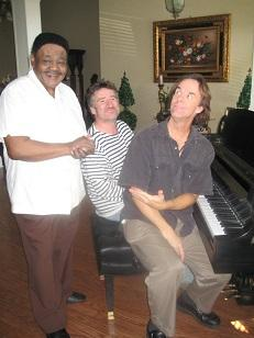 "Jazz New Orleans ""Player of the Week"" Tom McDermott with Jon Cleary and Fats Domino"