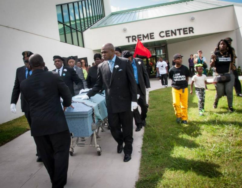Herman Wallace's funeral.