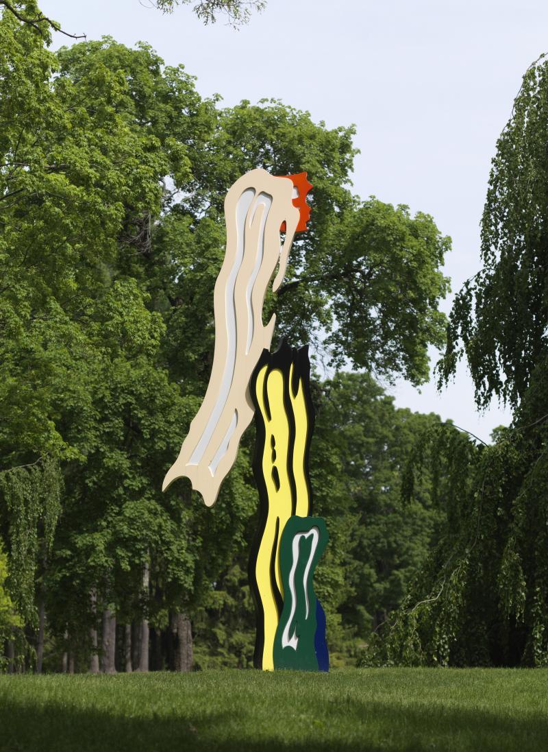 """Roy Lichtenstein's """"Five Brushstrokes""""."""