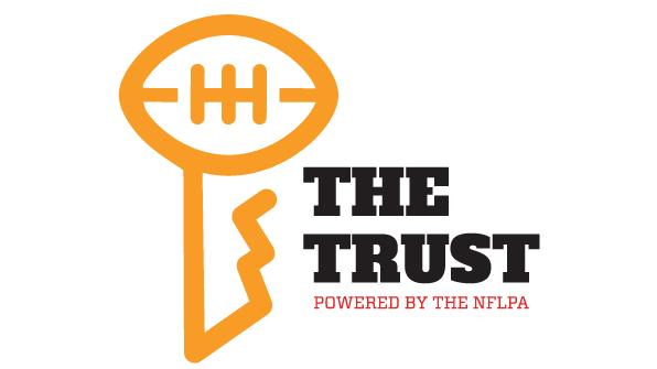 The logo of The Trust, the new organization launched by the NFLPA intended to help former players transition away from football. Tulane University is a medical partner of the organization.